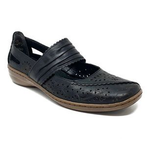 Riekers Antistress Leather Floral Mary Janes